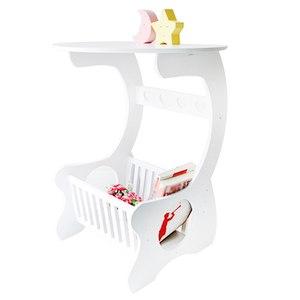 Image 1 - Multifuncional prateleira de armazenamento de madeira mesa de café mesa de chá mesa lazer revista rack de armazenamento oco esculpido