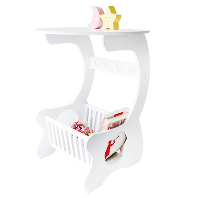Multifuncional prateleira de armazenamento de madeira mesa de café mesa de chá mesa lazer revista rack de armazenamento oco esculpido