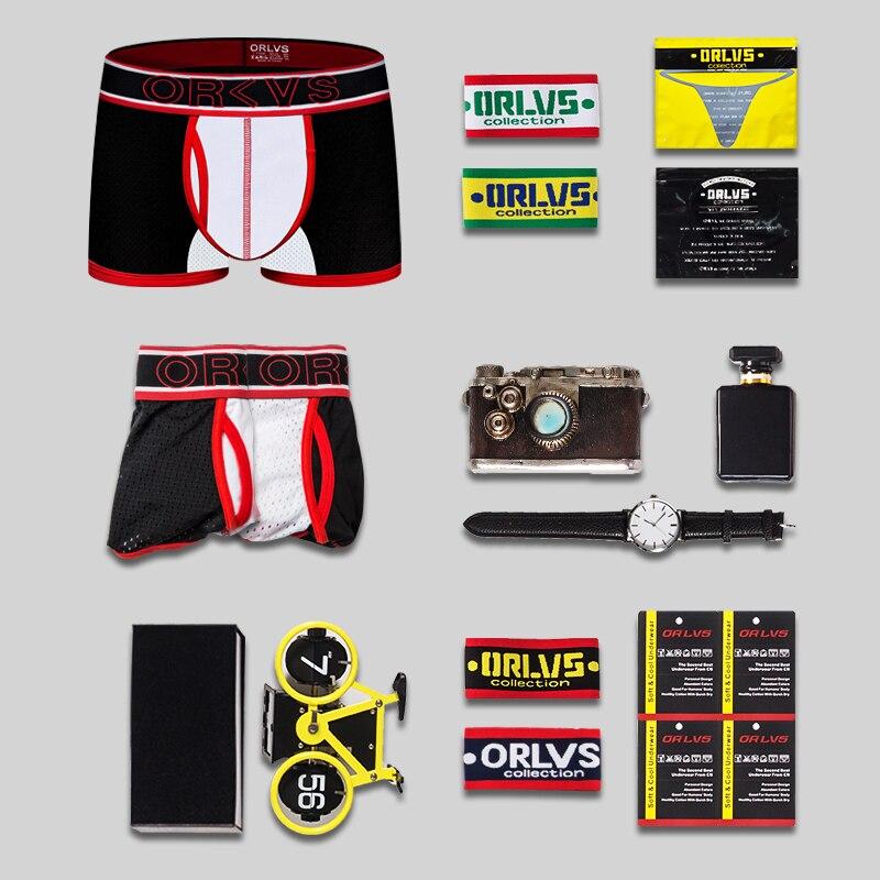 ORLVS Брендовые мужские боксеры, мужское белье для геев, cueca tanga ropa interior hombre, боксеры homme calzoncillo, боксеры para hombre, боксеры - 6