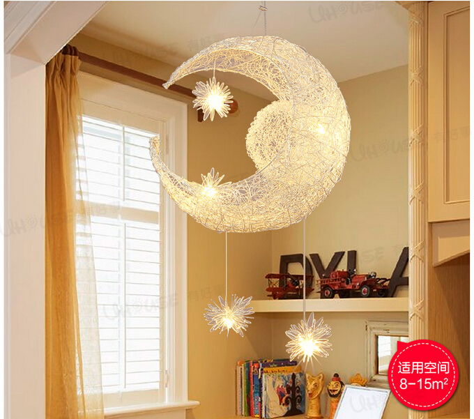 Free Shipping Newly Modern Moon Star LED Pendant Lamp For