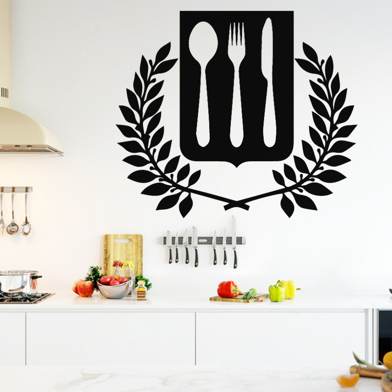 Tableware Wall Stickers Home Decoration Dining Room Kitchen Self-adhesive Knives Wallpaper Home Decor Removable Harmoney DIY