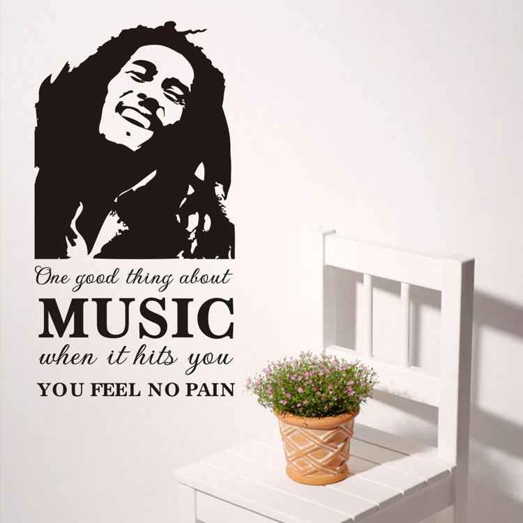 One Good Thing About Music Bob Marley Vinyl Wall Stickers Home Rhaliexpress: Bob Marley Home Decor At Home Improvement Advice