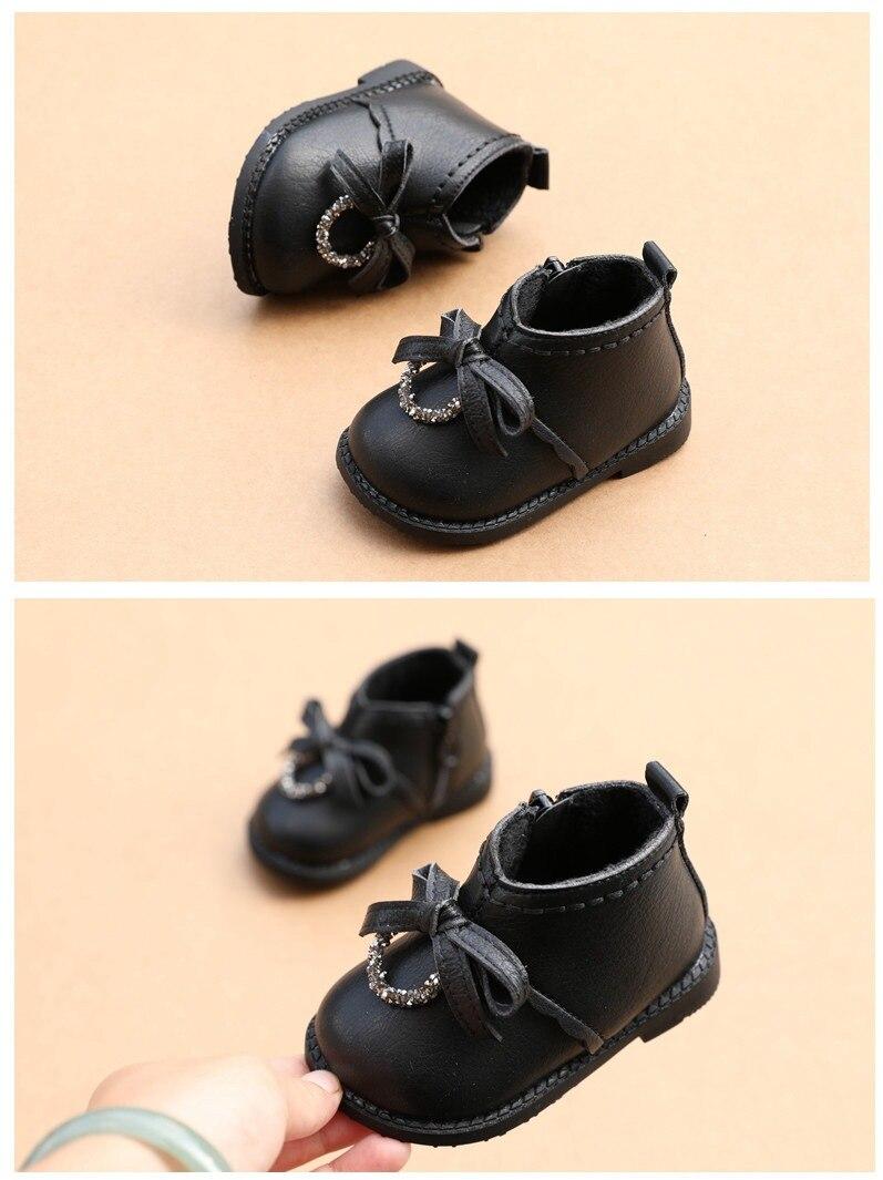 Inverno moda menina sapatos de algodão botas
