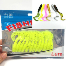 12pcs/bag fishing soft lure fishing soft Artificial baits 60mm/1.76g soft bait for fishing free shipping 113
