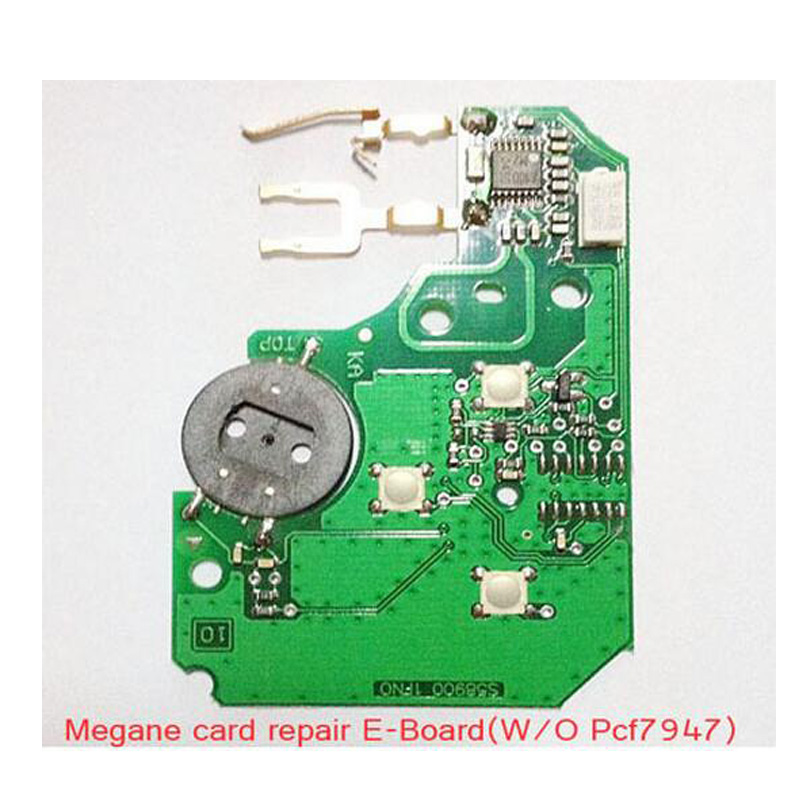 Free Shipping 3 Button Electronic Remote PCB Repair Set For Renault Megane Card Without PCf7947
