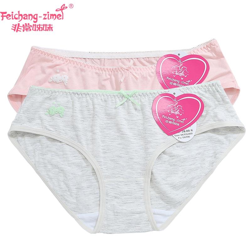 Free Shipping Feichangzimei Teenage Girl Panties Cotton -9892