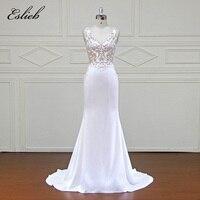 Eslieb Customed אלגנטי Vestidos דה Novia כלה שמלות כלה תחרת טול שמלות כלה שמלות 2018 תמונה אמיתית xfm043