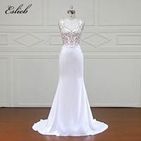 Eslieb Elegant Customed Vestidos De Novia Bridal Dresses 2018 Real Photo Wedding Dresses Lace tulle Wedding Gowns xfm043
