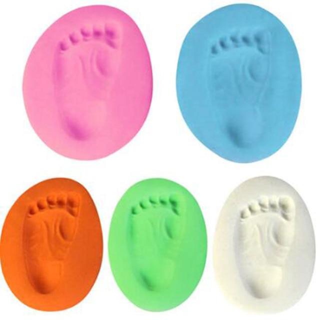 1 шт. отпечаток руки ребенка отпечаток отпечатка пальца отпечаток пальца комплект литье ребенка сушка воздуха мягкая глина родитель-ребенок рука чернильница подарочные сувениры