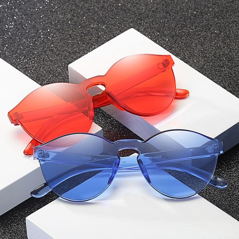 Candy Transparent Women Sunglasses Glasses Lens Plastic