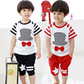Summer Style Kids Boys Clothing Set Cotton Short Sleeve Tshirt+Half Pants Set For Children Boys Sport Suit Clothing Set