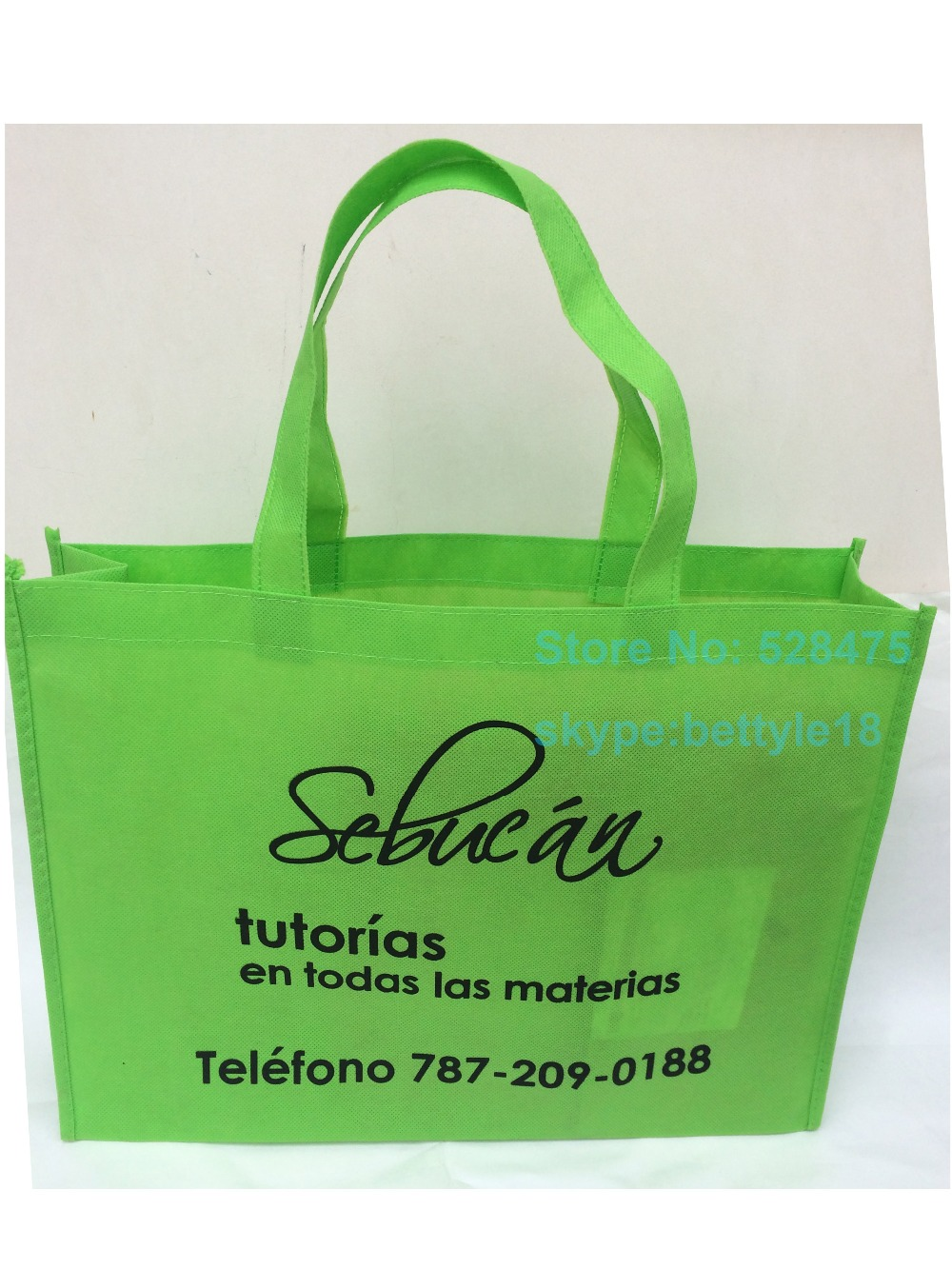 8b0ad40aaa 500pcs lot reusable grocery 20x25x8cm non woven shopping bags custom  printing company brand logo promotional gift tote bags -in Shopping Bags  from Luggage ...