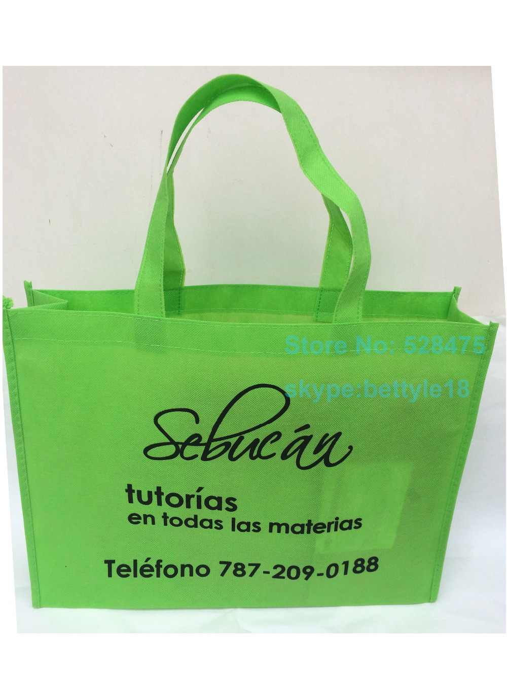 3641163616 ... 500pcs lot reusable grocery 20x25x8cm non woven shopping bags custom  printing company brand logo promotional ...