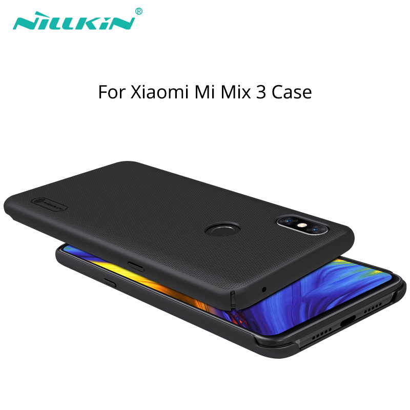 For xiaomi mi mix 3 case cover 6.39'' NILLKIN Frosted PC Matte hard back cover Gift Phone Holder for xiaomi mix 3 case mix3 case
