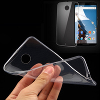 For Google Nexus 6 5 6P 5X Transparent Soft Ultra Clear TPU Silicone Protective Cover Case Shockproof Scratch-resistant Shell