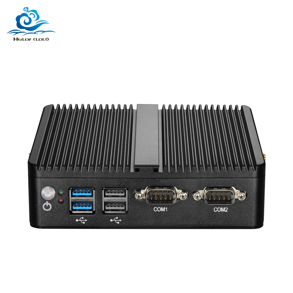Fanless Mini PC Celeron 2955U Gigabit Ethernet Mini Computer Windows 7 Dual LAN 2*COM Desktops HDMI WIFI Usb Pc