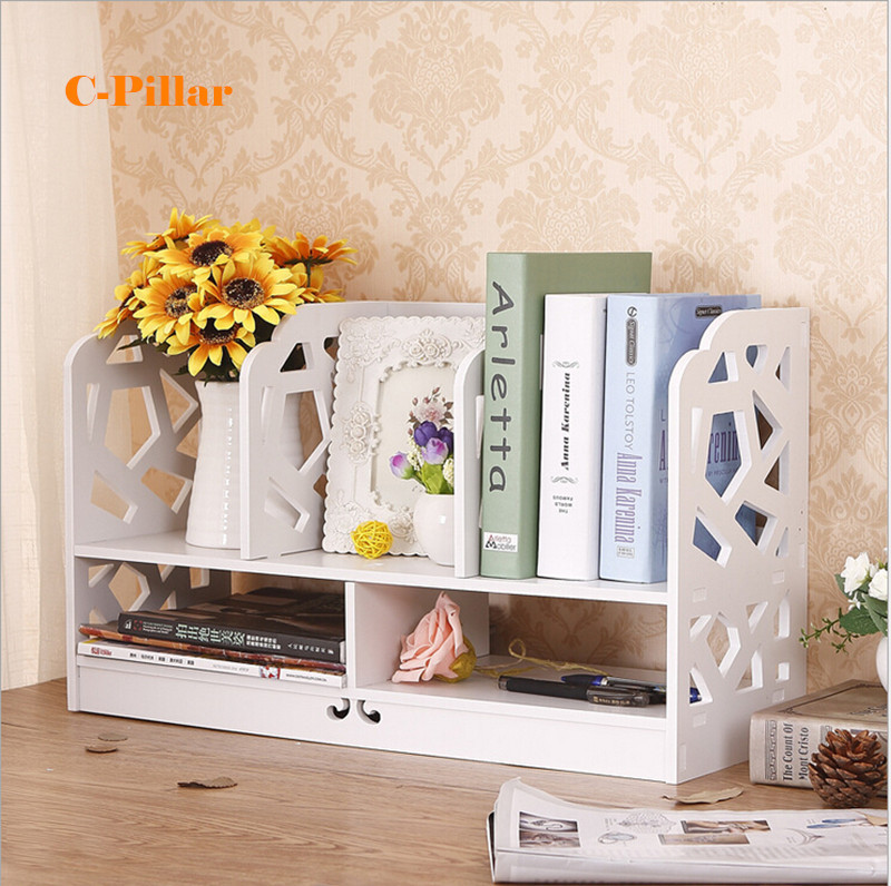 Hot Multi Function Desktop Storage Rack DIY Magazine Holders Simple Office  Document Racks Small Bookcase Table