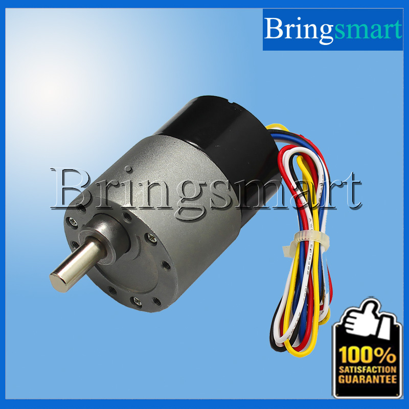 Bringsmart JGB37-3525 Brushless 12V DC Gear motor Long Life 24V Gear Motor Low Noise With Signal Feedback Reversible wholesale 12 30v 8 1040rpm jgb37 3650 gear motor dc 12v brushless engine d shaft for common use bringsmart