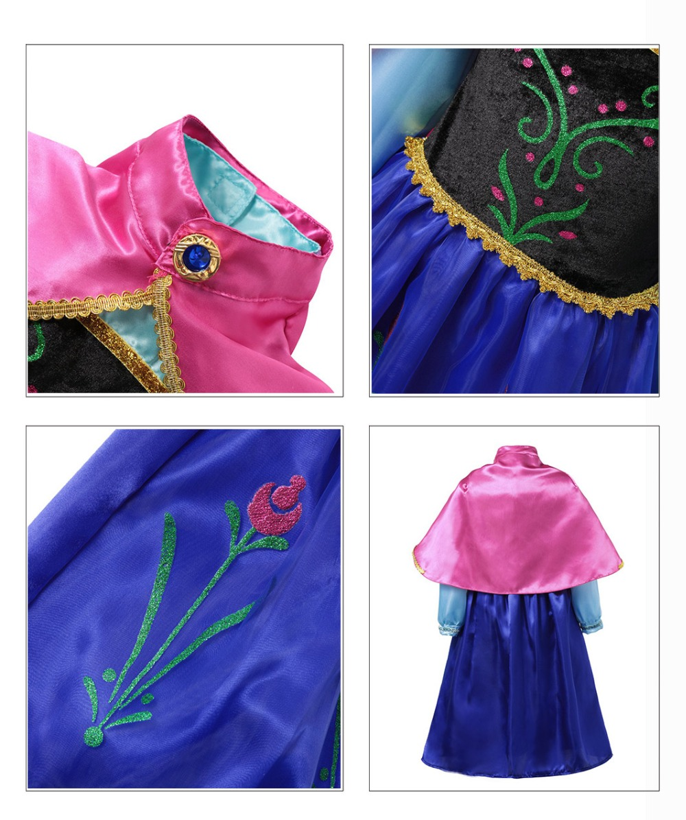 HTB1736JJb2pK1RjSZFsq6yNlXXaH Fancy Baby Girl Princess Clothes Kid Jasmine Rapunzel Aurora Belle Ariel Cosplay Costume Child Elsa Anna Elena Sofia Party Dress