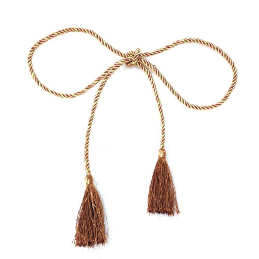 1 pc fenêtre coton corde cravate dos rideau frange embrasses chambre gland décor 15 couleurs AA