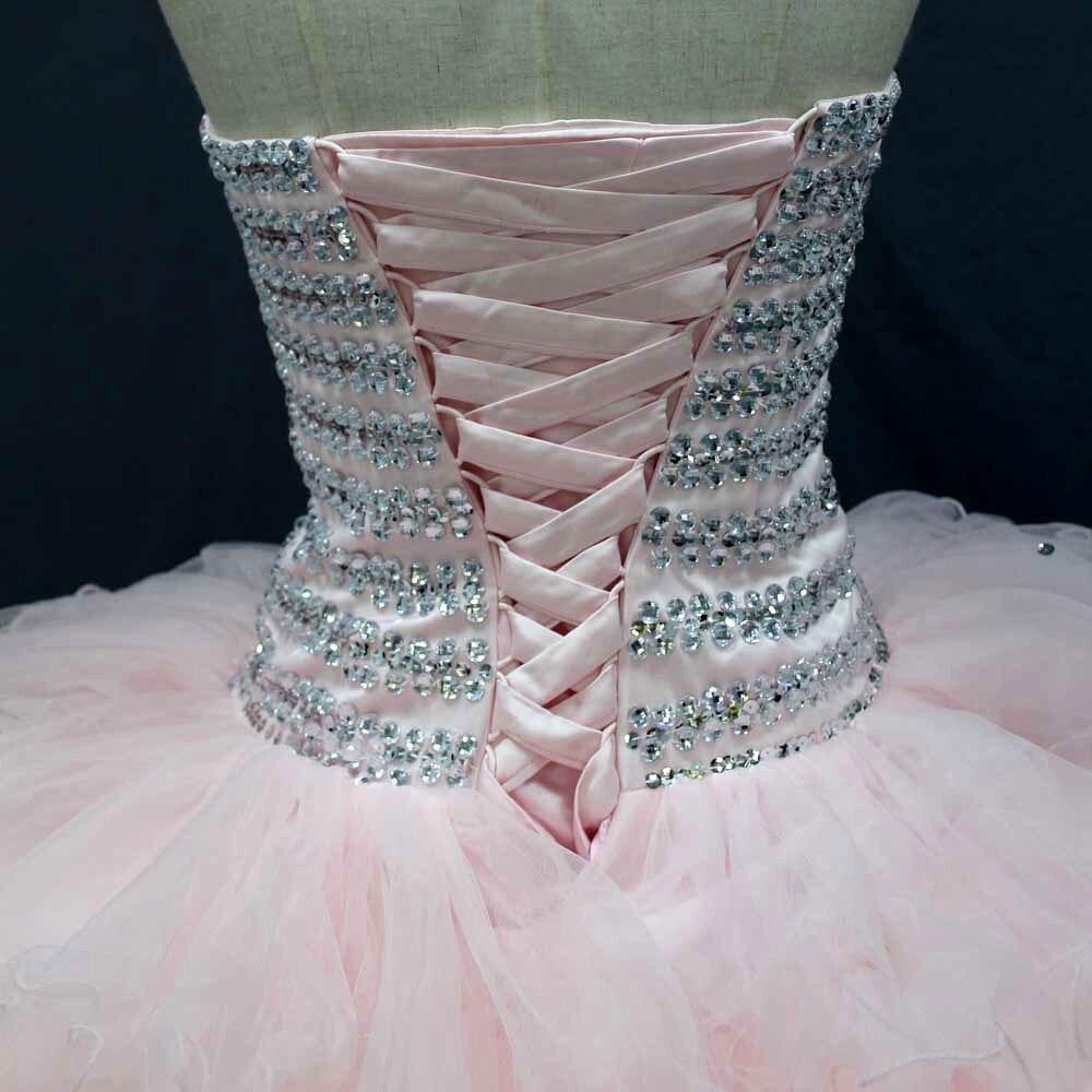 Pink Kleines Mädchen partei kleid Kristalle Mieder Real Bilder ...