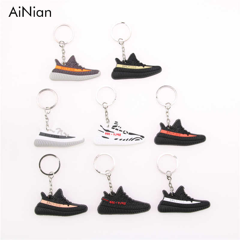 AiNian Mini Silicone IMPULSO 350 V2 Sapatos Saco Keychain Charme Homens Mulher Kids SPLY-350 Presente Chave Titular Chaveiro Sneaker