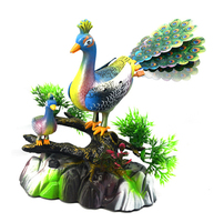 Peacock Open Screen Music Light Simulation Call Electric Voice Control Peacock Induction Sound Control Toys Placed Concert Bird