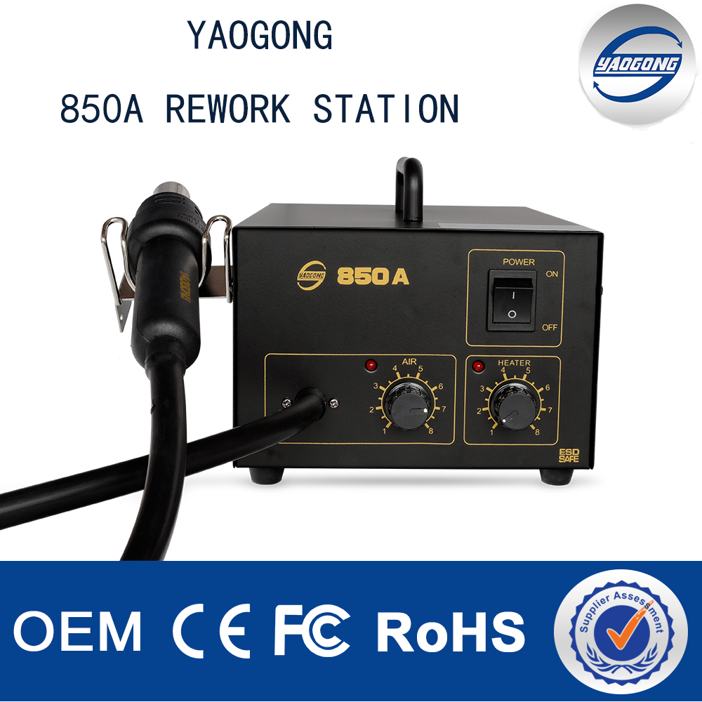 2017 Hot Sale 850A Hot Air Smd Rework Soldering Station with hot air gun mobile phone repairing machines