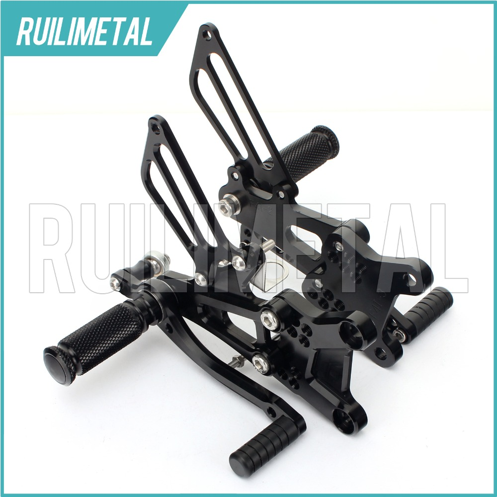 CNC Aluminium  Adjustable Rearsets Rear set Footpeg Footpegs Foot Rests Footrest For HONDA CBR 600  F4i  01-07 02 03 04 05 06 black cnc racing motorbike footpegs rearset rear set foot rests for honda cb1300 03 13 08 09 10 11 12 d25