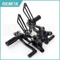 CNC Aluminium Adjustable Rearsets Rear set Footpeg Footpegs Foot Rests Footrest For HONDA CBR 600 F4i 01 07 02 03 04 05 06