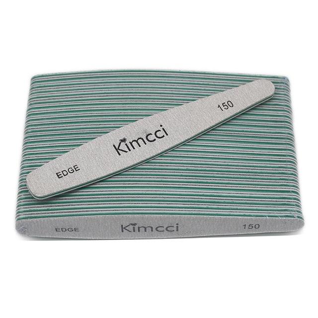 Kimcci 25 pçs/lote Venda Hot Top Qualidade Lixas de Unha Ferramentas Manicure Set Blocos de Lixa Magro Tampão BORDA 150 Da Arte Do Prego fontes de salão