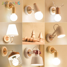 LED E27 Wall Lamp Nordic Modern Bedroom Bedside Wall Lights Living Room Study Lighting Decorative Lamps Sconces Lights Luminaire цены