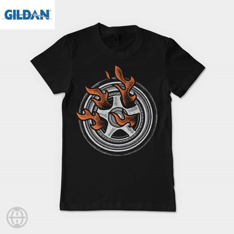 GILDAN Burn Rings Womens T-shirt