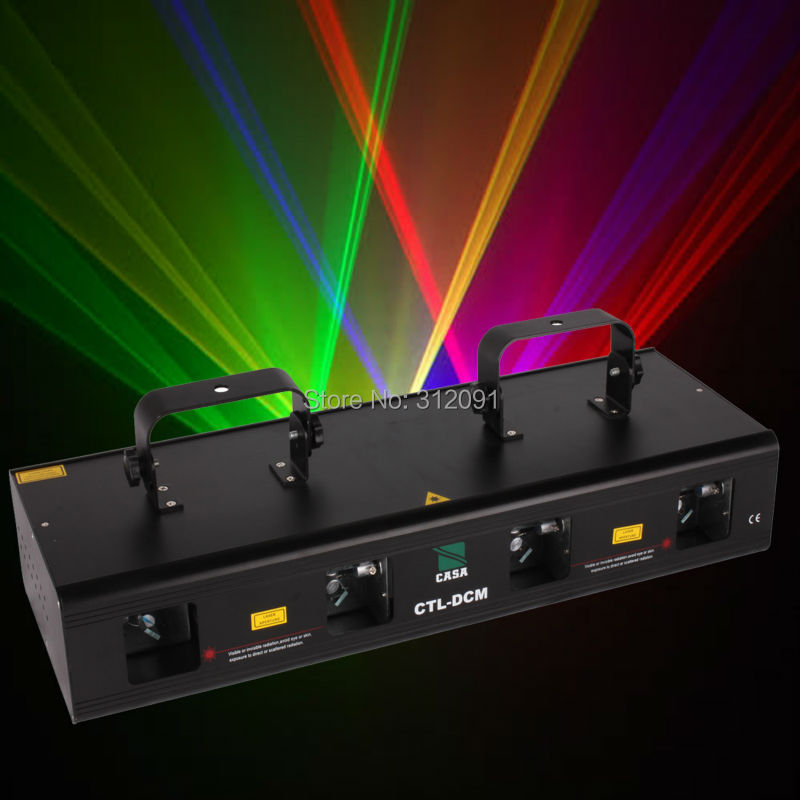 (Ship From Germany) 460mW 4 Lens 4 Beam Stage Light Wedding Party Show DJ Disco Club Effect Lighting System DMX 7CH RGPY