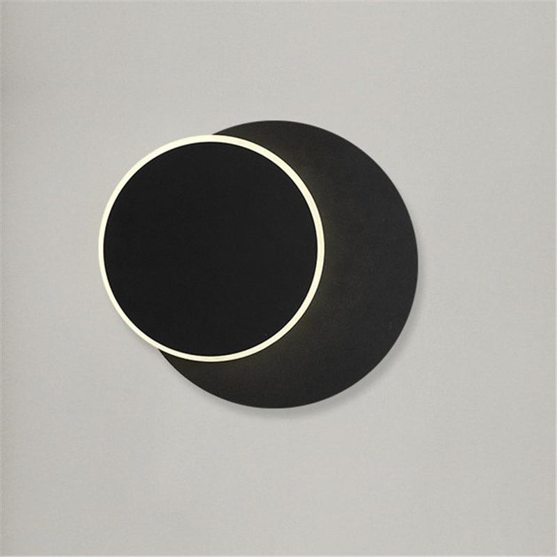 LED Wall Lamp 300 degree rotation Bedroom bedside light white Black Square Round wall lamp modern aisle corridor lights