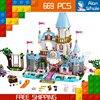 669pcs 2016 NEW Bela SY325 Princess Cinderella S Romantic Castle Building Blocks Toys Lucifer Bruno Compatible