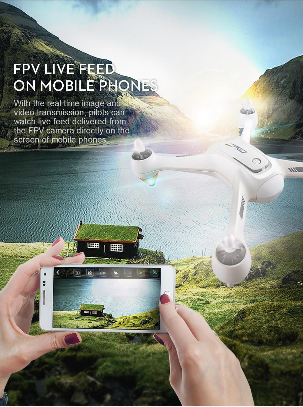 JJRC JJPRO X3 RC Drone HAX With Brushless Motor Engine With 1080P Detachable Camera GPS Positioning WIFI FPV RC Quadcopter RTF
