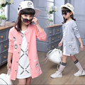 Весна малышей девушки детская одежда длинные свитер пиджак бейсбол для девочек детская одежда спортивные пальто толстовки sweatershirts