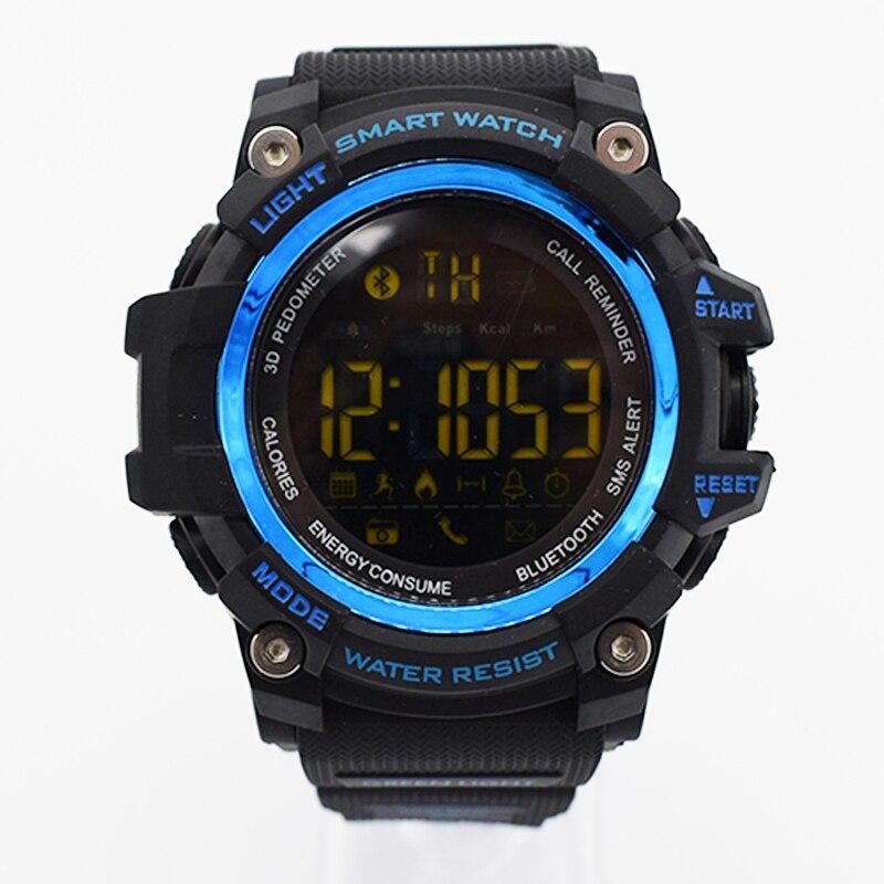 Синий водонепроницаемые наручные электронные часы для мужчин digitais часы работает мужские человек digitales часы Повседневная туризма Творчески…