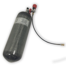 Hot 9L Certified Carbon Fiber Composited Cylinder with a red valve and fill station Thread M18*1.5 4500psi -K