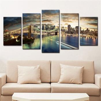 5 Pcs Abstract Decorative Wall Modular Canvas 1