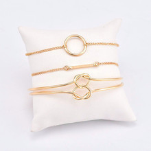 bls-miracle vintage gold color top Newest Fashion accessories tie bracelet for women girl BA-200