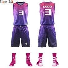 HOWE AO, мужские баскетбольные Джерси с принтом, наборы, пустая баскетбольная тренировочная одежда с карманами, баскетбольная форма, костюмы
