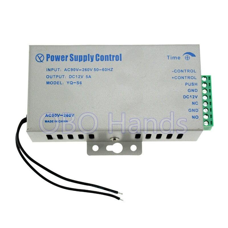 Meilleur prix de DC12V 5A alimentation avec haute qualité pour système de contrôle d'accès kit commutateur électronique puissance AC90V-260V