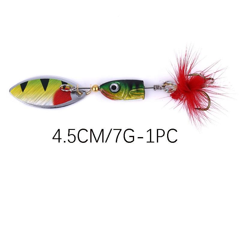 Vissen 2pcs lentejuelas giratorias 4.5 cm cebo sumergible biónico 7g - Pescando