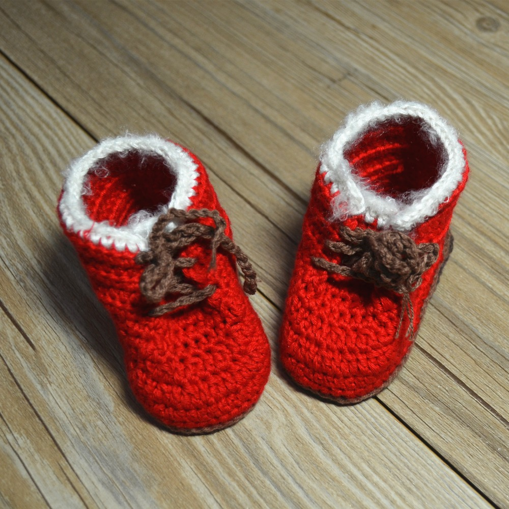 QYFLYXUE-baby wool,handmade shoes,christmas baby gift shoes,todder shoes 0-6M 6-12M first walkers freeshipping