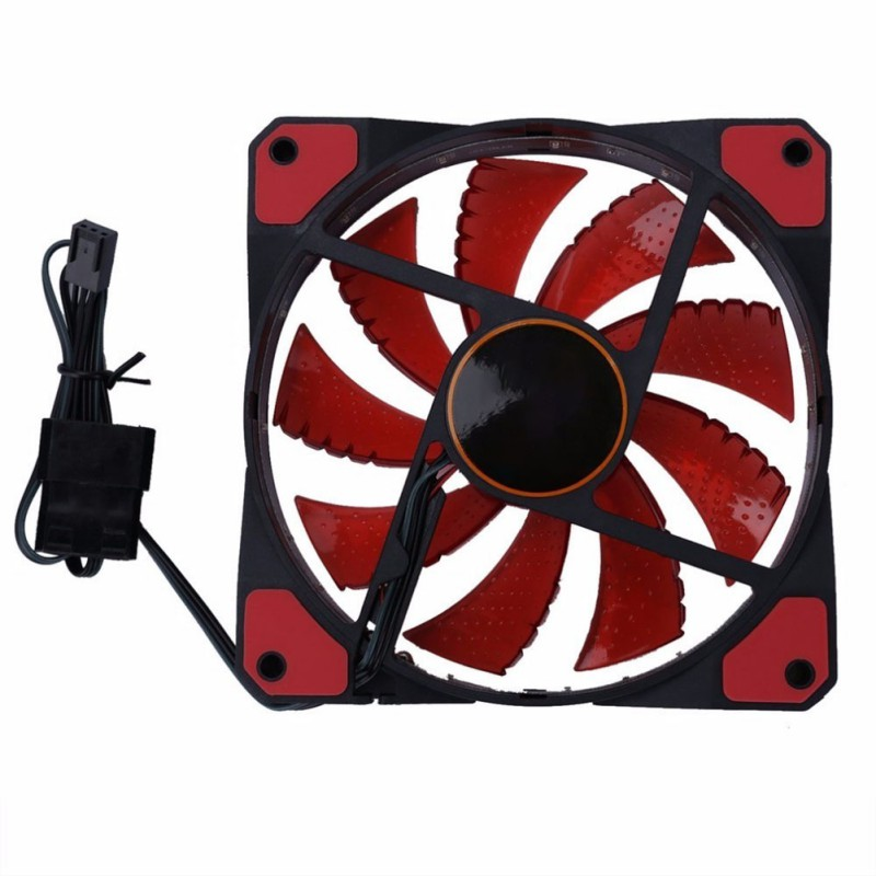 Image 2 - 120MM PC Case Cooler, Silent Computer Cooling Fan With Hydraulic Bearing/Big 4PIN/Small 3PIN Interface-in Fans & Cooling from Computer & Office