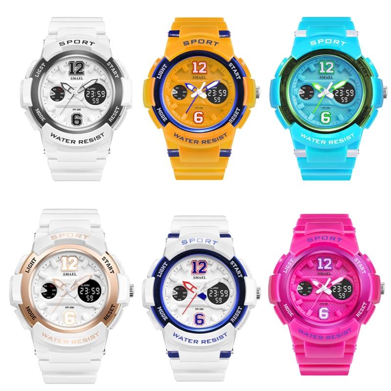 SMAEL Female Watches Digital LED Display Wristwatch Girl Casual Quartz Electronic Genuine Hot 1632 Woman Clock Sport Watch Women