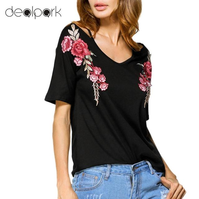f2d0a9cae59 3XL 4XL 5XL Plus Size Off Shoulder Tops Women T-Shirt Floral Embroidery T  shirt
