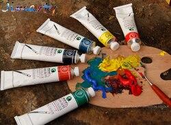 المهنية جميع الألوان 50 مللي كل أنبوب النفط الدهانات الألوان اللوحة رسم أصباغ الفن لوازم AOA011